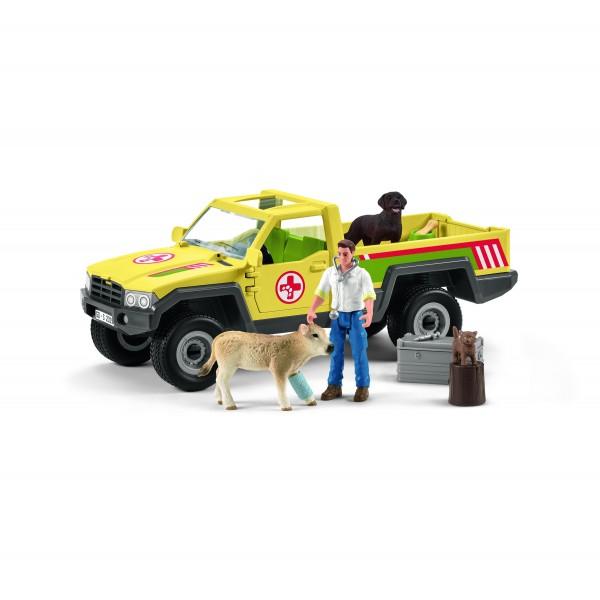 Tierarztbesuch auf dem Bauernhof Modell von Schleich siehe Artikel Beschreibung
